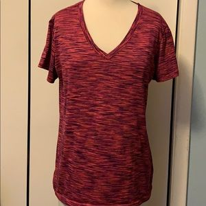 Reebok Pink and Black T-shirt Gently Preowned